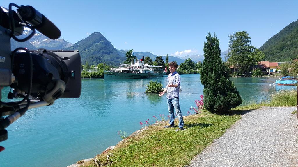 TV Aufzeichnung in der Schweiz am Brienzersee