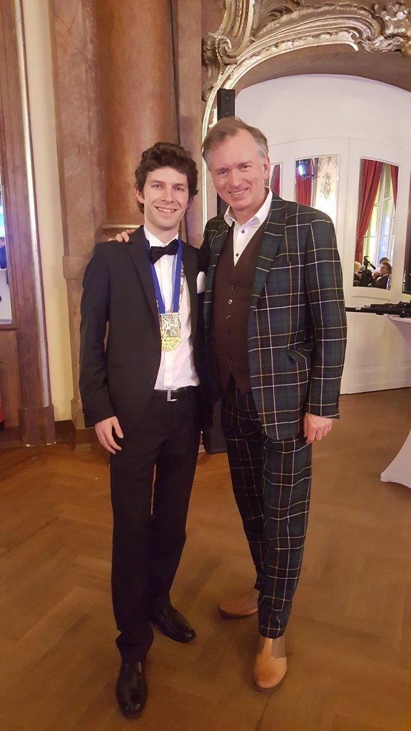 Michi Glück mit Christian Springer