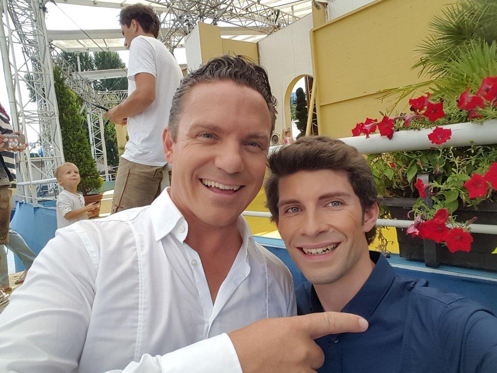 Michi Glück mit Stefan Mross